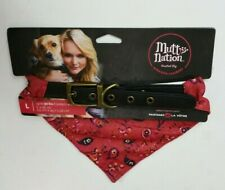 Mutt Nation Miranda Lambert Leather Dog Collar Bandana Red Large Up To 90lbs