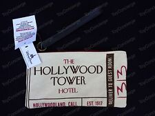 DISNEY Parks HOLLYWOOD HOTEL Tower Of Terror WRISTLET Bag CANVAS Purse NWT