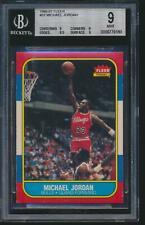 1986 Fleer MICHAEL JORDAN Rookie Chicago Bulls BGS 9