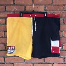 Vintage TOMMY HILFIGER SAILING GEAR Swim Trunks Shorts Men Large 90s Patch Logo