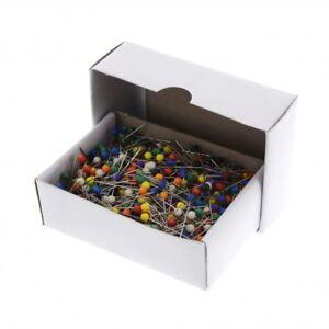 Stecknadeln mit Glaskopf Plastikkopf Glaskopfstecknadeln Nadeln Stahl Stecknadel