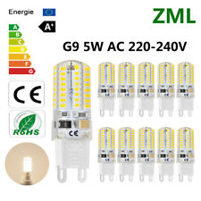 10x G9 LED Light Bulb 64 3014SMD Candle Lamp 220V Cool White Silicone Crystal