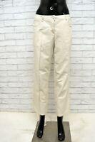 Pantalone Jeans Donna GEOX RESPIRA Taglia Size 46 Gamba Dritta Cotone