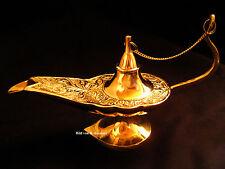 Aladdin Wunderlampe Messing aladin Lampe Gefäß 23cm XL Räuchergefäß gold NEU
