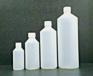 HDPE Plastic Bottles 50ml 100ml 250ml 500ml 1000ml, Natural, Screw Cap