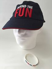 Carnival Behind the Fun Blue Baseball Cap Honorary Team Member Hat Bracelet Set