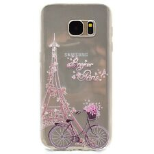 Soft TPU Silicone Slim Pattern Clear Rubber Back Cover Case For Samsung Galaxy