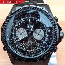 Mens Flywheel Stainless Quality Luxury Bling Skeleton Automatic Mechanical Watch