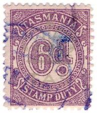 (I.B) Australia - Tasmania Revenue : Stamp Duty 6d (underprint)