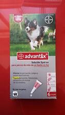 ADVANTIX 10-25kg, 6 PIPETAS antiparasitario