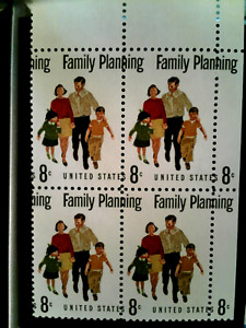 U S stamps EFO Scott 1455 Family planning misperforated block of 4