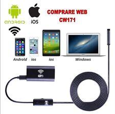 CAMERA ISPEZIONE ENDOSCOPIO WIRELESS WIFI IOS IPHONE ANDROID 3,5MT HD 720P CW171