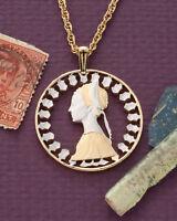 "Italian Pendant and Necklace Hand cut 500 Lira Coin 1-1/8"" diameter ( # 206 )"