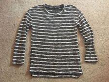 Long Sleeve Basic Tee Machine Washable Striped T-Shirts for Women