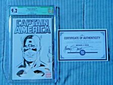 Captain America #1 Sketched and Signed by Michael Zeck CGC 9.2 with COA