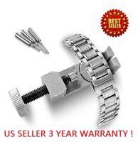 Metal Link Pin Remover Adjuster Watch Band Bracelet Strap Free Parts Repair Tool
