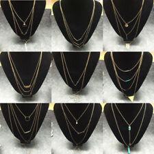 Collares y colgantes de bisutería color principal oro de piedra