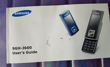 Samsung users guide SGH-J600
