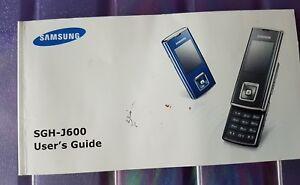 Samsung users guide SGH-J600