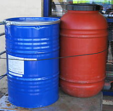 44 GALON METAL DRUM With Lid Recycled Contained FOOD NOT CHEMICALS