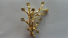 Branch Brooch Hamilton Gold Plated Glue On 5mm Pads 0633 (pkg 3)