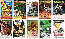 Vintage 50's Sci Fi Movie Film Posters The Thing Forbidden Planet Robby Robot