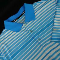Men Nike Golf Dri Fit Tour Performance Striped Casual Golf Polo Shirt Size Large