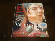 LUST, CAUTION 2007 Oscar ad Tang Wei as Wong Chia-chi/Mrs. Mai in mirror, Ang