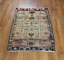 Traditional Vintage Wool Handmade Classic Oriental Area Rug Carpet 100 X 70 cm