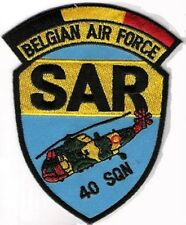 BELGIAN AIR FORCE BAF SQN 40 SEARCH/RESCUER SEA KING SHOULDER SLEEVE INSIGNIA