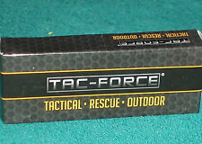 """TAC-FORCE 7"""" LOCKING BLADE TACTICAL RESCUE OUTDOOR BOXED KNIFE w BELT CLIP"""