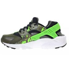 Nike Huarache Run Print (GS) - Size 5 Y Black/Green Streak - 704943-007