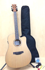 Klema Solid Cedar Top,Dreadnought Acoustic Guitar,Cutaway W Gig Bag k100DC-CE