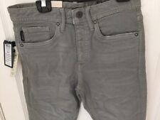 "Jack & Jones Grey Chinos Jeans Moon Mist Buttons 28"" Waist 30"" Leg Small Glenn 5"