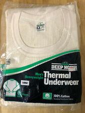 New Nos Vtg Deep North Mens Heavyweight Thermal Long Sleeve Shirt L 42-44 Usa