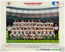 1984 SAN DIEGO PADRES BASEBALL WORLD SERIES 8X10 TEAM PHOTO GWYNN TEMPLETON SHOW