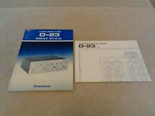 New listing Pioneer D-23 Service Manual & Schematic