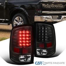 For Dodge 09-18 Ram 1500 2500 3500 LED Full Black Tail Lights Brake Parking Lamp