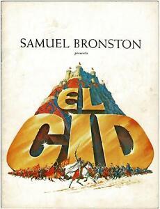 1961 Samuel Bronston Presents EL CID PROGRAM, SOPHIA LOREN and CHARLTON HESTON