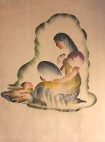 Organization United Nations Noël 1946 Peace On The Earth Maternity Paintings