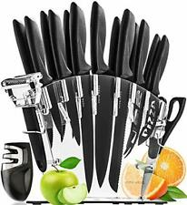 Stainless Steel Knife Set with Block 13 Kitchen Knives Set Chef Knife Set