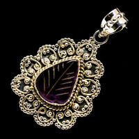 """Amethyst 925 Sterling Silver Pendant 1 3/4"""" Ana Co Jewelry P724907F"""
