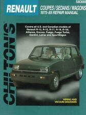 Renault Coupes, Sedans, and Wagons, 1975-85 (Chilton's Total Car Care-ExLibrary