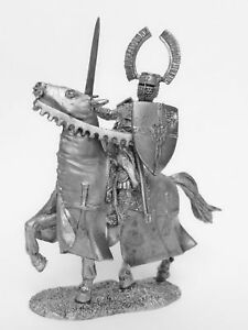 TIN HISTORY TIN FIGURES HORSE FIGURES LANDMASTER OF THE TEUTONIC ORDER 90MM P2