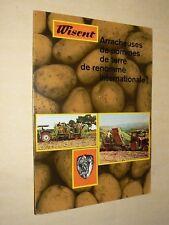 Prospectus Arracheuse Pomme de Terre WISENT R Tracteur Tractor Traktor Prospekt
