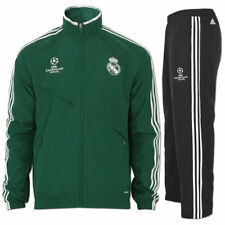 adidas Fußball Trainingsanzug Präsentationsanzug Real Madrid UCL Sportanzug grün