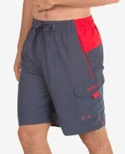 """Speedo Men's Marina Sport VaporPLUS 9"""" Swim Trunks, Gray, Size XXL, $42, NwT"""