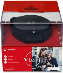 Vodafone V-SOS Band / Watch with Emergency Fall Alert - VIT100 - Charcoal Black