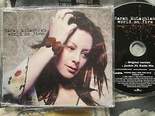 Sarah McLachlan – World On Fire Arista – WORLDCD1  UK Promo CD Single