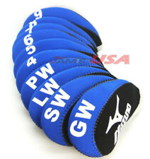 MIZUNO Black & Blue Color Golf Iron HeadCover 10 pcs Set Head Covers Neoprene